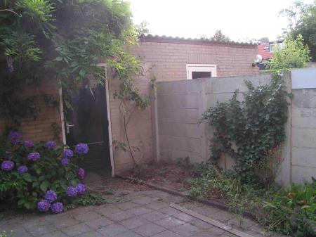 Hoek in de tuin over