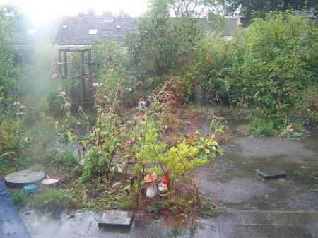 Het regent een beetje
