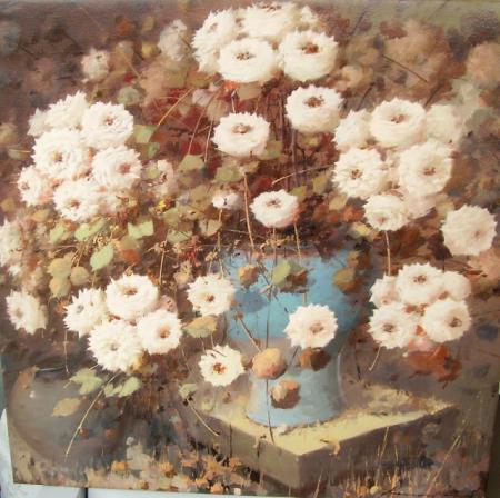 Welke bloemen zijn afgebeeld op dit schilderij?