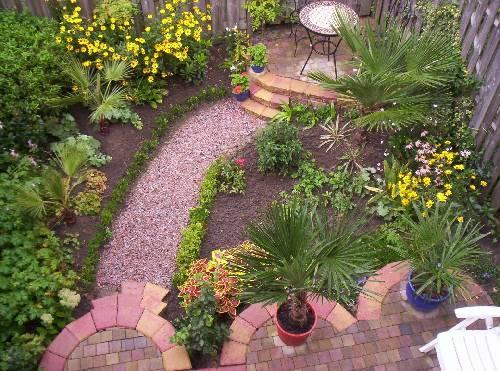 Foto's beginnend tropische tuin